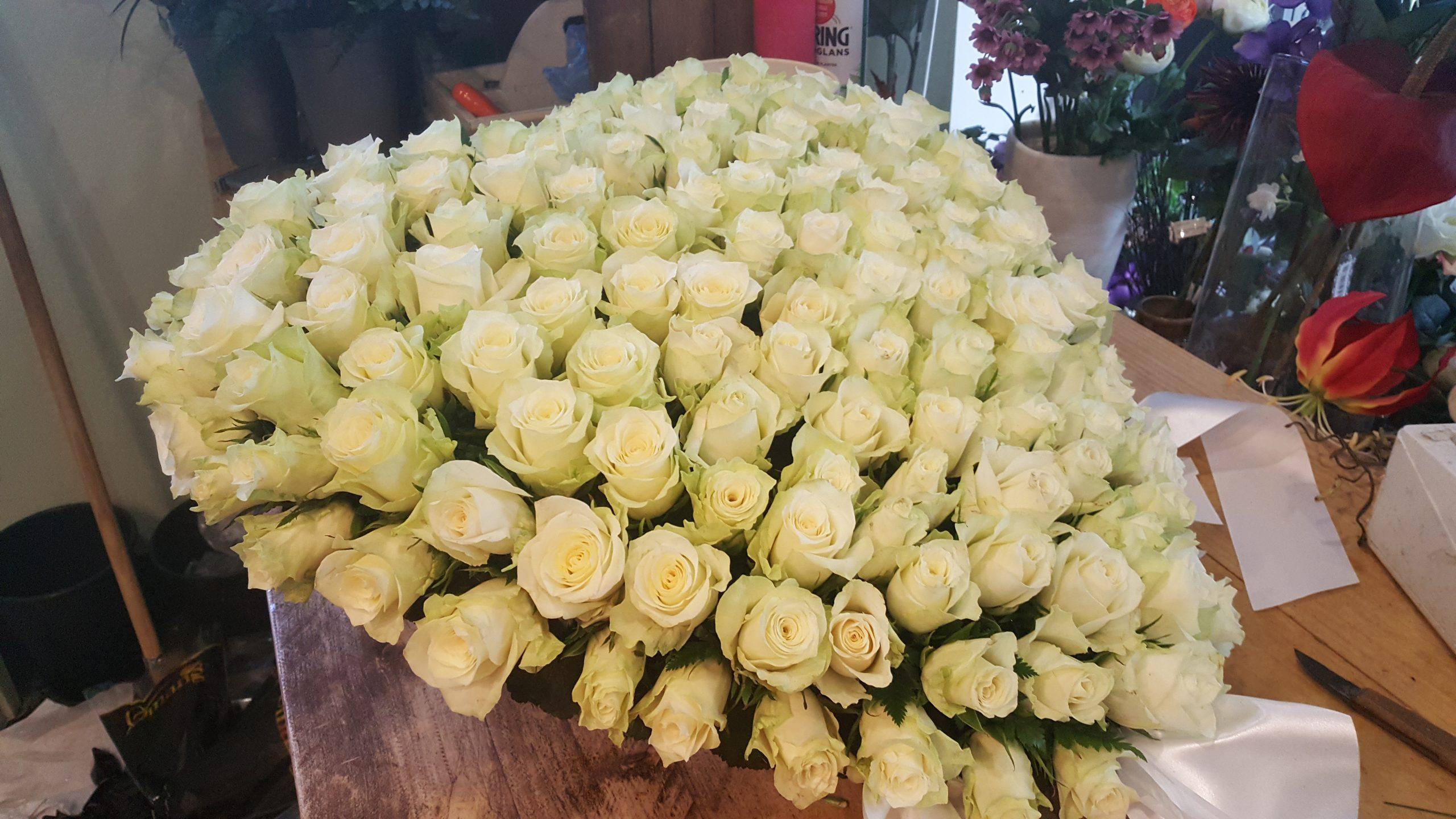 Hart witte roosje - nr.1.23