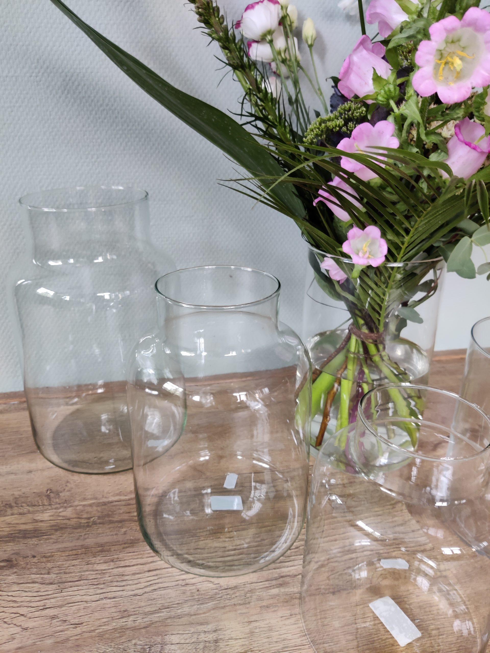 Vazen van gerecycled glas